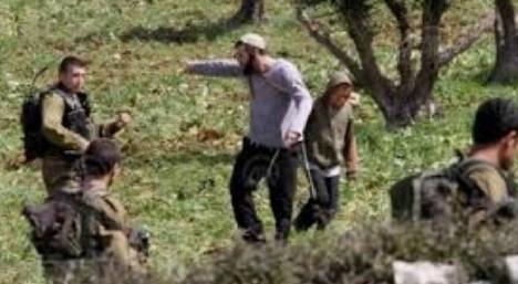 شبيبة التلال بحراسة الاحتلال على أراضي الفلسطينيين