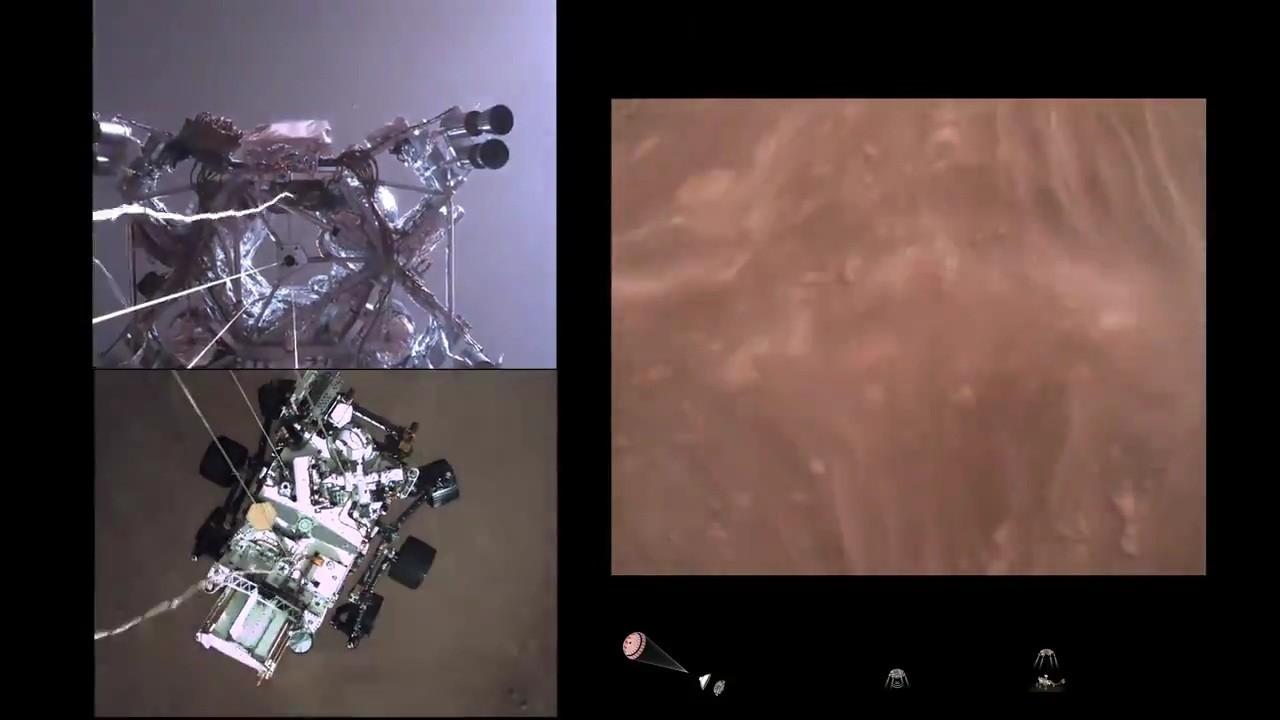 ناسا تنشر أول مقطع فيديو يصور هبوط المسبار المتجول برسفيرنس على المريخ