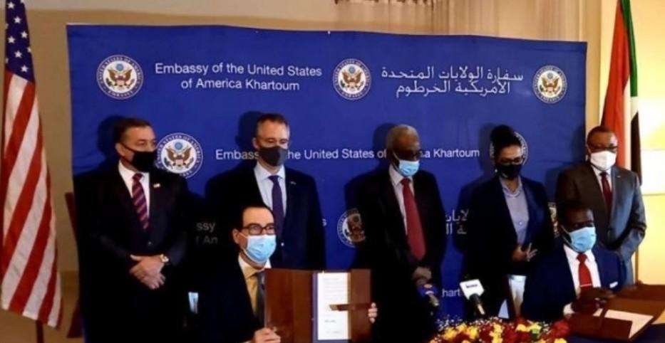 توقيع  اتفاقات أبراهام بين السودان وإسرائيل