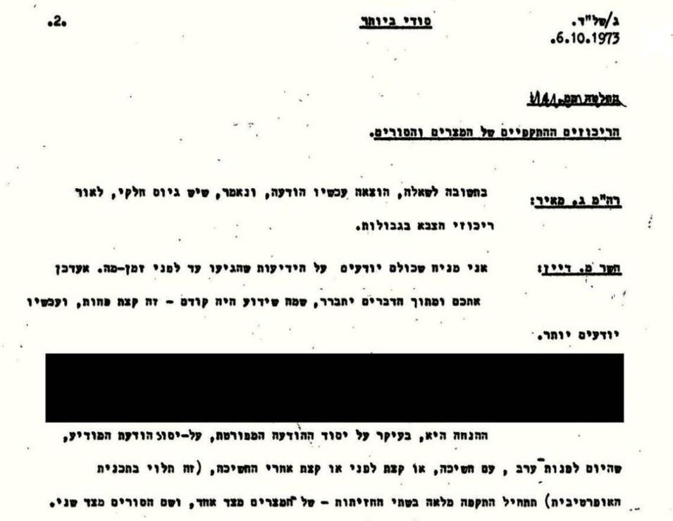 إضاءات الجزء الأول/ وثائق إسرائيلية: كيف تعاملت الحكومة الإسرائيلية مع سوريا ومصر في حرب 1973 ولماذا خسرت الحرب