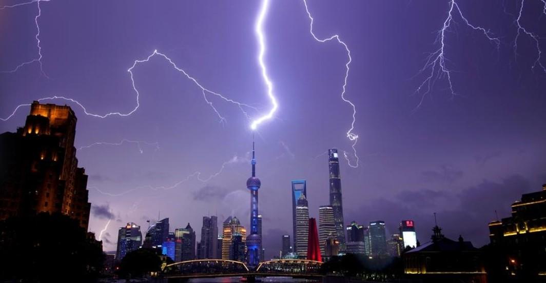 شنغهاي الصين إضاءات