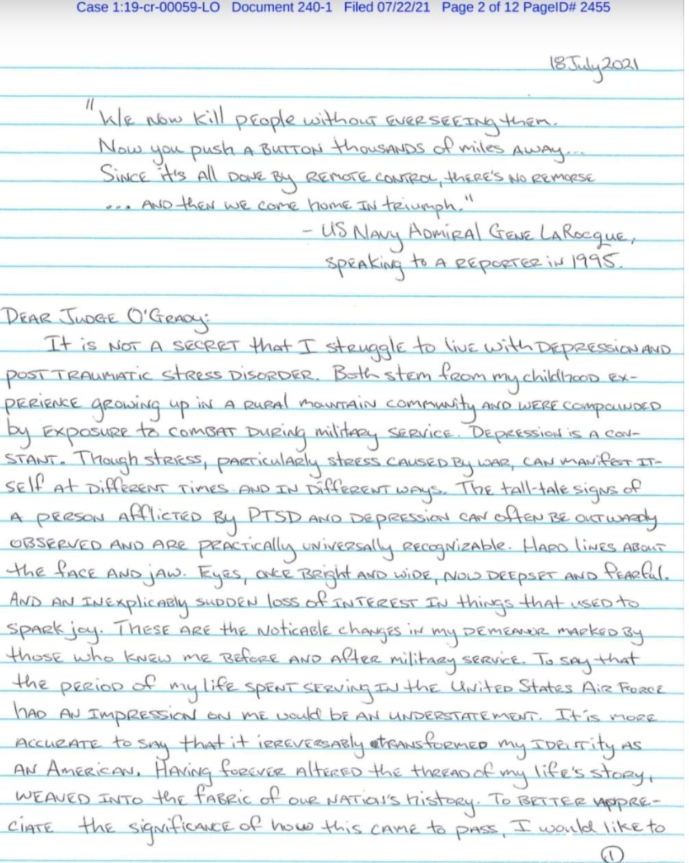 رسالة جندي أمريكي عائد من أفغانستان